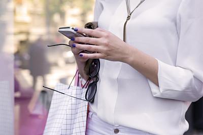 女孩,购物袋,青少年,电子邮件,顾客,计算机软件,商店,电子商务,现代,青年人
