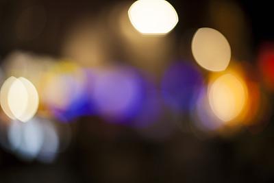 创造力,运动模糊,留白,水平画幅,无人,色彩鲜艳,散焦,斑点,路灯,明亮