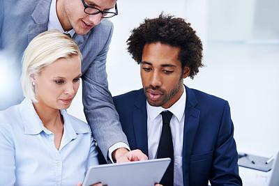 商务,电子邮件,专业人员,策略,技术,拿着,商务策略,办公室,非洲人,使用电脑