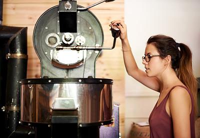 知识,技能,现代,咖啡豆焙炒器,幕后,咖啡生豆,烤咖啡豆,业主,咖啡店,忙碌