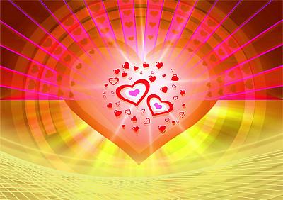 情人节,背景,脉动,贺卡,艺术,水平画幅,形状,符号,明信片,情人节卡
