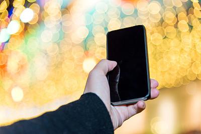 夜晚,智能手机,留白,计算机软件,仅成年人,现代,彩色图片,技术,相机,金色