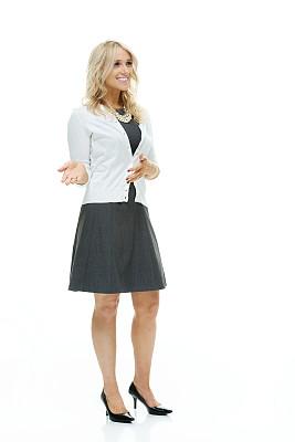 女商人,套装,垂直画幅,正面视角,四肢,举起手,不看镜头,仅成年人,青年人,商务