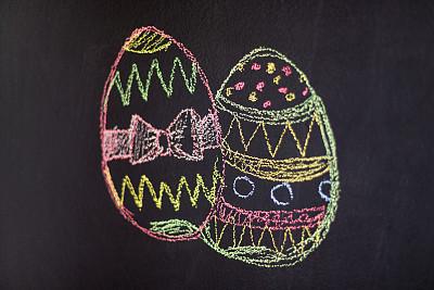 复活节,幸福,留白,粉笔画,水平画幅,消息,无人,蝴蝶结,彩色图片,童年