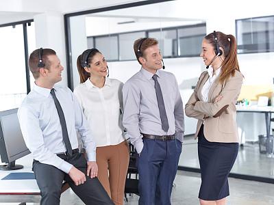 呼叫中心,快乐,办公室,职业,人群,套装,男商人,男性,仅成年人,青年人