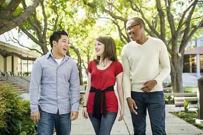 人群,友谊,多样,前面,青少年,留白,领导能力,在之后,非裔美国人,男性