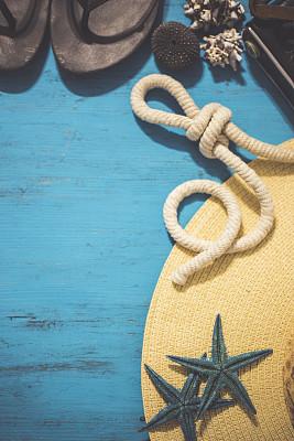 夏天,背景,拖鞋,凉鞋,个人随身用品,垂直画幅,留白,度假胜地,户外,海滩