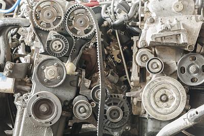 发动机,曲柄,有凹痕的,废旧汽车场,机器活塞,废金属,保险杠,不,古老的