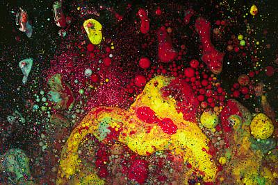 活力,抽象,水滴,彩色背景,涂料,灵感,艺术,水平画幅,无人