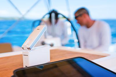 4g,男人,有帆船,平板电脑,船长蝴蝶,帆船队,游艇比赛,水手,达尔马提亚地区,帆船
