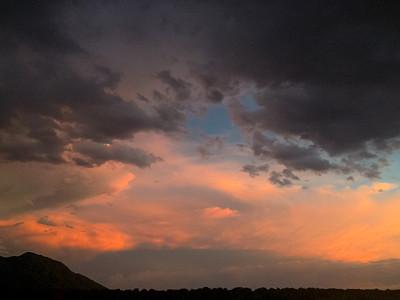 自然,地形,新墨西哥,圣迪阿峰,三笛亚山脉,在移动设备上拍摄,天空,留白,暴风雨,水平画幅