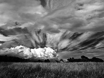 天空,美,水平画幅,夜晚,无人,夏天,户外,草,云景,都市风景