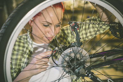 车间,骑自行车,自行车,自行车座,美,车轮,水平画幅,顾客,商店,乡村风格