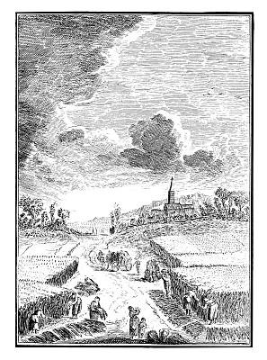 古董,雕刻圖像,denis diderot,打谷,鐮刀,18世紀風格,垂直畫幅,白色背景,黑白圖片,背景分離
