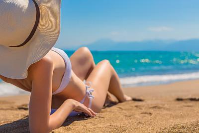海滩,比基尼,女人,鸡尾酒,撒谎者,不诚实,晒黑,水,四肢,沙子
