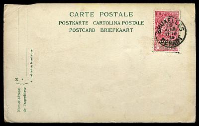 明信片,比利时,20世纪风格,取消,邮戳,贺卡,留白,字母,古董,水平画幅