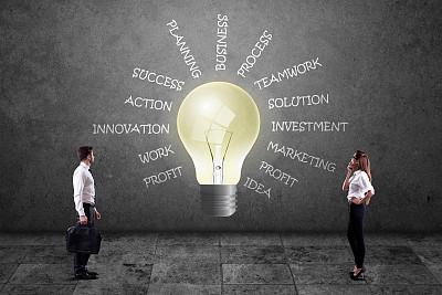 商务,电灯泡,看,单词,商务人士,好主意,词云,节能灯泡,太阳能电池板,太阳能设备