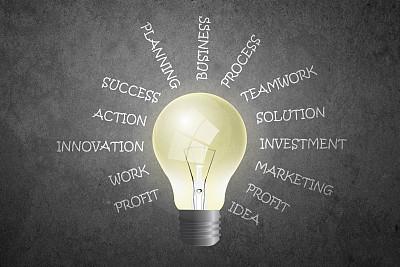 电灯泡,商务,单词,好主意,节能灯泡,太阳能电池板,太阳能设备,太阳能,灵感,储蓄
