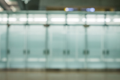 散焦,机场,背景,大厅,办公室,留白,水平画幅,工作场所,无人,玻璃