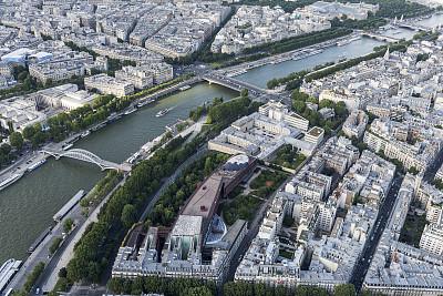 塞纳河,河流,巴黎,观光船,帆船,水,外立面,客船,水平画幅,高视角
