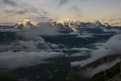 中国,梅里雪山,香格里拉,水平画幅,自然,雪,无人,早晨,户外,白色