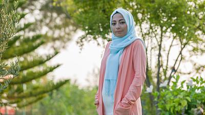 Muslim ?slamic Woman with flowers
