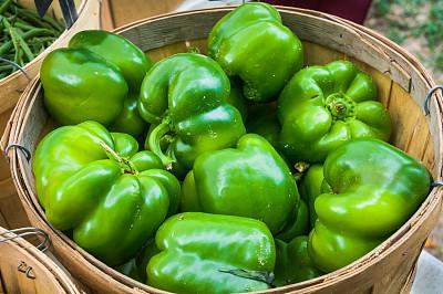 青椒,柯德角,农产品市场,水平画幅,灯笼椒,无人,椒类食物,生食,夏天,户外