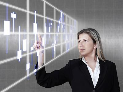 女商人,电子白板,未来,半空中,计算机制图,计算机图形学,仅成年人,青年人,技术,公司企业