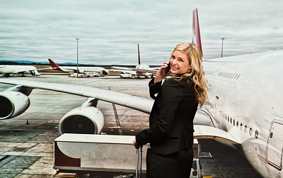 机场,女商人,半身像,在之后,仅成年人,青年人,技术,商务,女人,仅一个女人