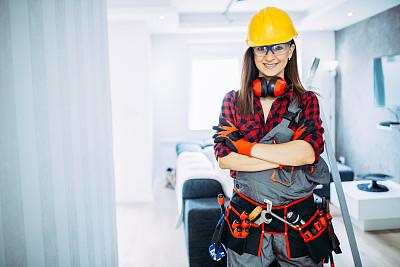 自然美,电工,防护镜,建筑承包商,仅成年人,运动头盔,建筑业,工业,青年人,专业人员