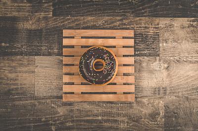 糖衣,盘子,多纳圈,竹子,美味,褐色,水平画幅,无人,蛋糕,古典式