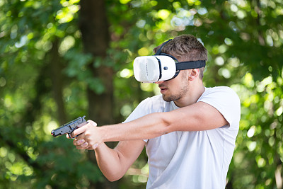 男人,虚拟现实,衣服,360度景观,防护镜,电子人,零售展示,络腮胡子,新的