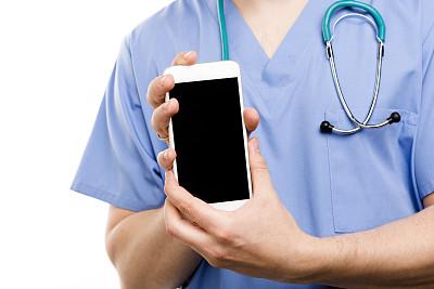 手,智能手机,显示器,留白,水平画幅,电话机,特写,男性,部分