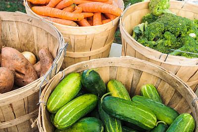 秋天,蔬菜,柯德角,甘薯,农产品市场,胡萝卜,水平画幅,绿色,无人,有机食品