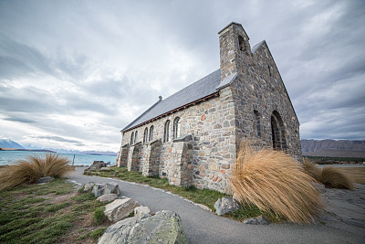 好牧羊人教堂,帝卡波湖,麦肯齐地区,特卡波,新西兰坎特伯雷地区,新西兰南岛,灵性,教堂,雪,石材