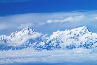 珠穆朗玛峰,山顶,在上面,地球,努子峰,洛子峰,坤布,尼泊尔,喜马拉雅山脉,天空
