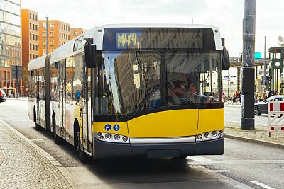 巴士,柏林,德国,水平画幅,无人,交通,城市生活,户外,城市,市区路