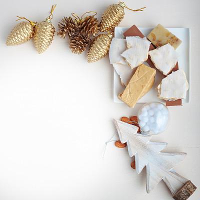 球,无人,烘焙糕点,膳食,圣诞树,甜点心,球体,圣诞装饰物,季节