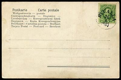 20世纪风格,古典式,明信片,瑞典,邮戳,取消,贺卡,留白,字母,古董