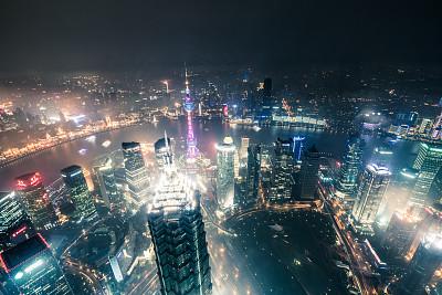 上海,世界金融中心,金茂大厦,上海环球金融中心,东方明珠塔,外滩,黄浦区,浦东,无线电通信塔,天空