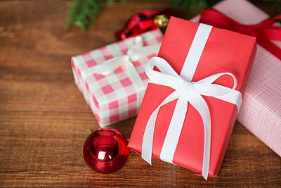 圣诞礼物,背景,晚会,留白,新年,古典式,生日,想法,球体,白色