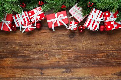 背景,圣诞礼物,礼物,圣诞树,圣诞装饰,裹住,有包装的,特写,缎带