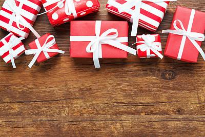圣诞礼物,留白,新的,夜晚,新年,古老的,古典式,现代,白色,彩色图片