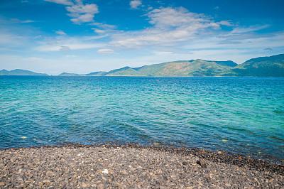 泰国,海滩,南,全景,丽贝岛,沙敦府,水,天空,水平画幅,无人