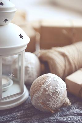 圣诞礼物,圣诞装饰,垂直画幅,灯笼,无人,新年,符号,乡村风格,特写