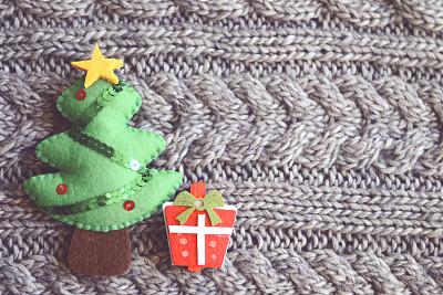圣诞装饰,水平画幅,无人,新年,符号,圣诞树,圣诞礼物,特写,圣诞装饰物