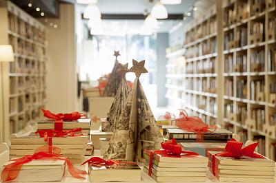 书店,书,礼物,接力赛,丰富,堆,小企业,商店,圣诞礼物