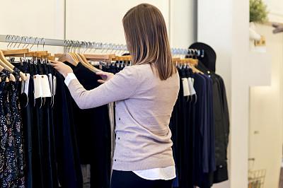 成年的,商品,女性,零售行业职位,营业时间标志,支架,主动,领导能力,水平画幅,纺织品