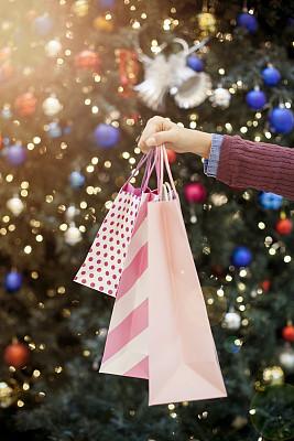 购物袋,手牵手,纸袋,购物狂,垂直画幅,办公室,美,顾客,美人