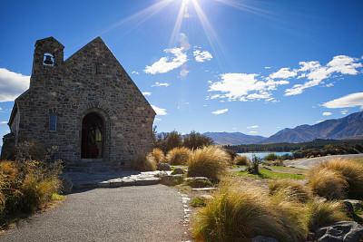 帝卡波湖,新西兰,特卡波,南阿尔卑斯山脉,天空,美,灵性,水平画幅